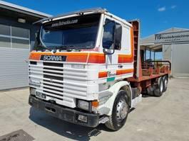 platform vrachtwagen Scania R112 320 6X2 stake body - INTERCOOLER 1987