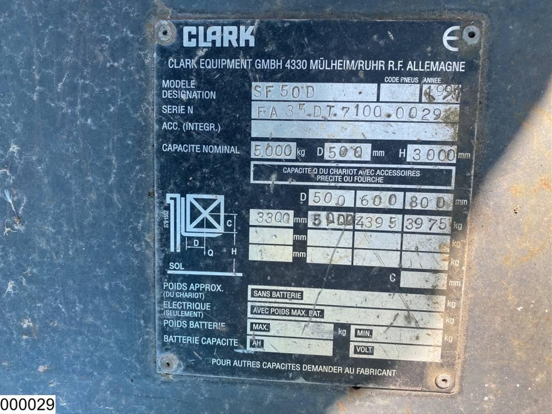 vorkheftruck Clark SF50D max 5000 kg, H 3,00 mtr 1997