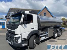 tankwagen vrachtwagen Volvo FMX 460 FMX460-6X4 HYDRODRIVE 16000L RVS ISO tank. 2 comp 2015