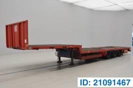 dieplader oplegger Cuyle Low bed trailer 1989