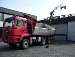 kipper vrachtwagen MAN TGA 33 6x4 3 Side Meiller Tipper with Removeable Crane  PK 18002 EH 2006