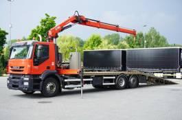 takelwagen-bergingswagen-vrachtwagen Iveco Stralis 360 , EEV, 6x2, 7.8m tow truck, lift axle , CRANE HIAB ma 2014