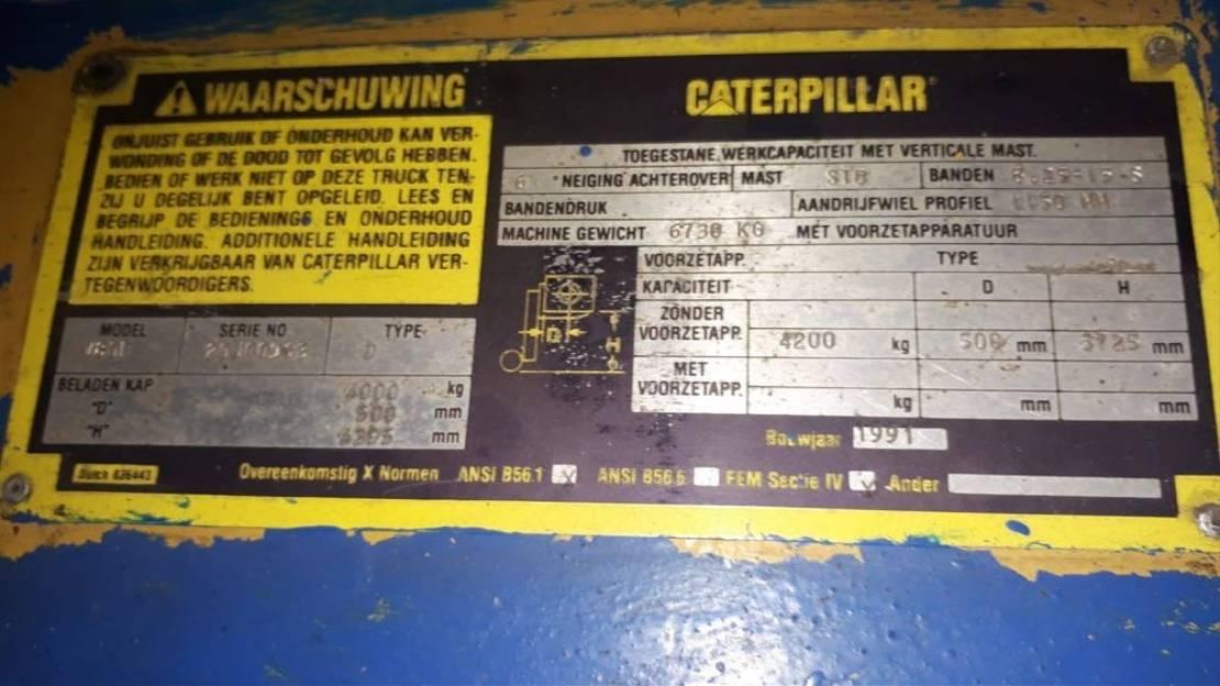 vorkheftruck Caterpillar heftruck V80F 1991