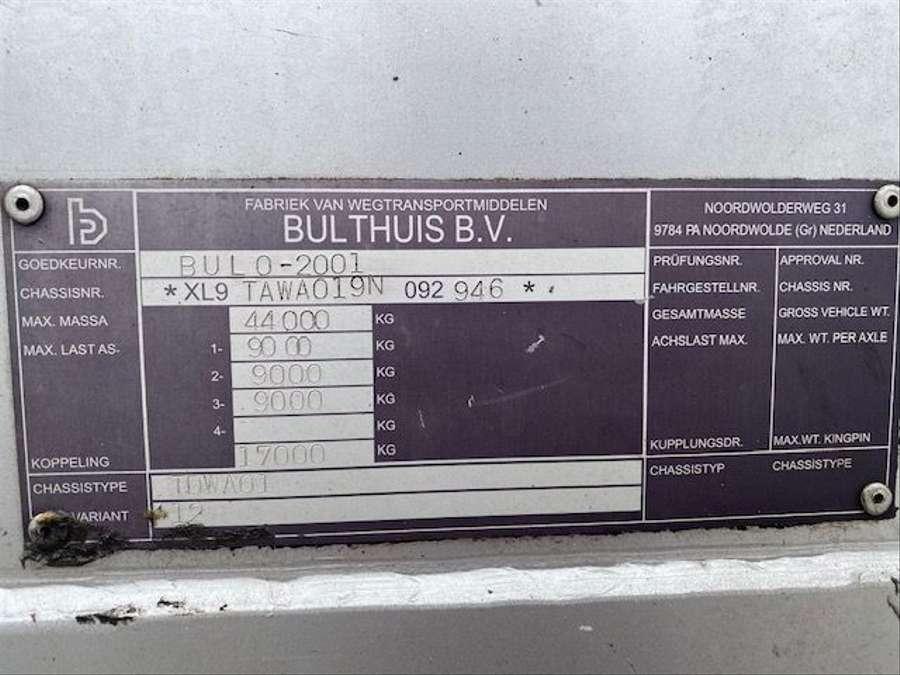 Bulthuis - TDWA01/ Schubboden / PBW Achsen 16