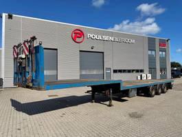 dieplader oplegger Lecitrailer 3-axle open stepframe lowbed trailer 2009