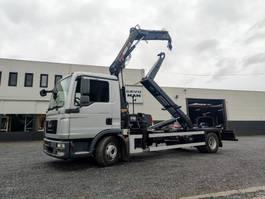 containersysteem vrachtwagen MAN TGL 12 Containerhaaksysteem Kraan HIAB 088 Euro5 2014