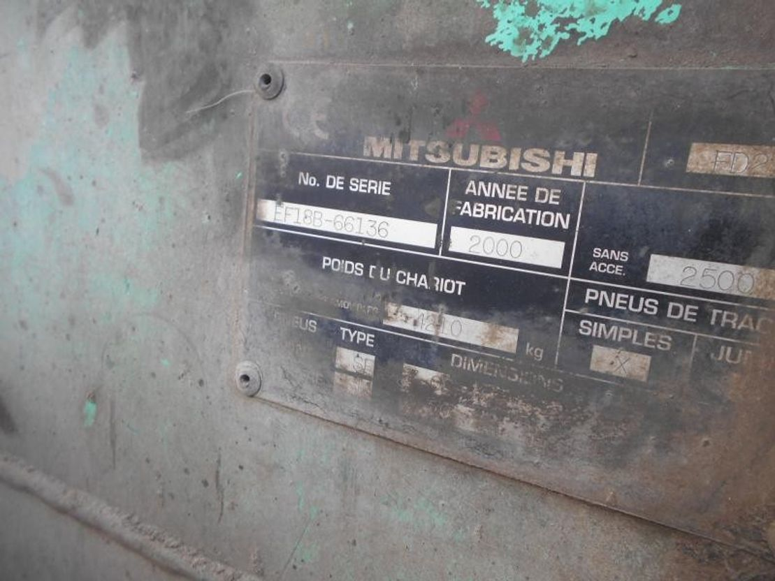 vorkheftruck Mitsubishi FD25N 2000