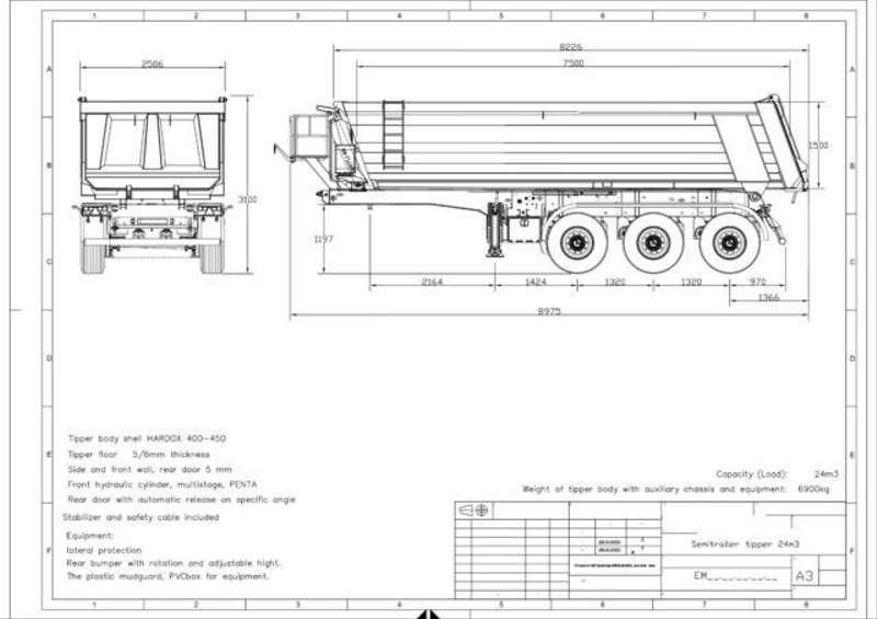 Diversen - EuromixMTP Kipper Auflieger AMT 24 3-Achser SAF 1