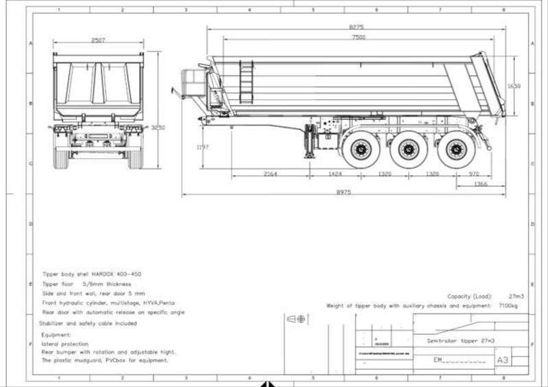 Diversen - EuromixMTP Kipper Auflieger AMT 27 3-Achser SAF 1