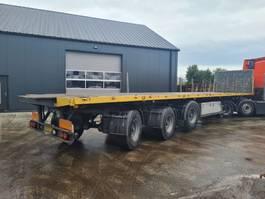open laadbak oplegger GS plateau trailer met combilocks + kraanspoor 130 2004