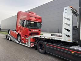 autotransporter oplegger VEGA Trailer Arla 2 axle machine transporter