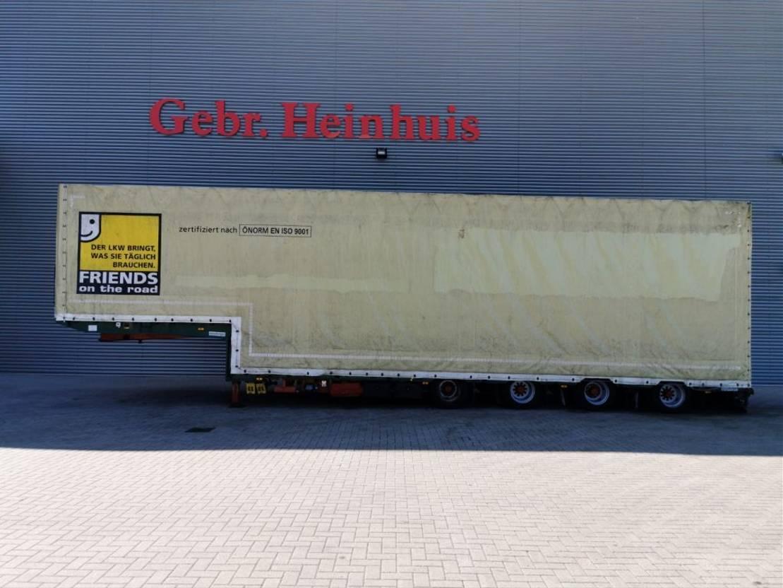 huifzeil oplegger Meusburger MPG-4 - Liftaxle - 2 Steering Axles - 6.5 Meter Extandable - Height inisde: 3250 mm! 2014