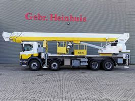 autohoogwerker vrachtwagen Scania 124C 420 8x4 Wumag WT 620 - 62 meter! 2001