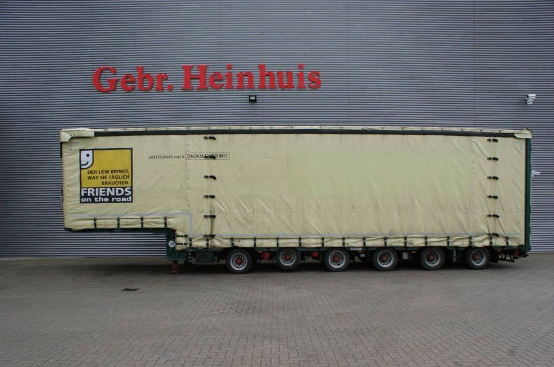 huifzeil oplegger Meusburger MPG-6 - 2 Liftaxles - 3 steering axles - Widened till 6 Meter! 2012