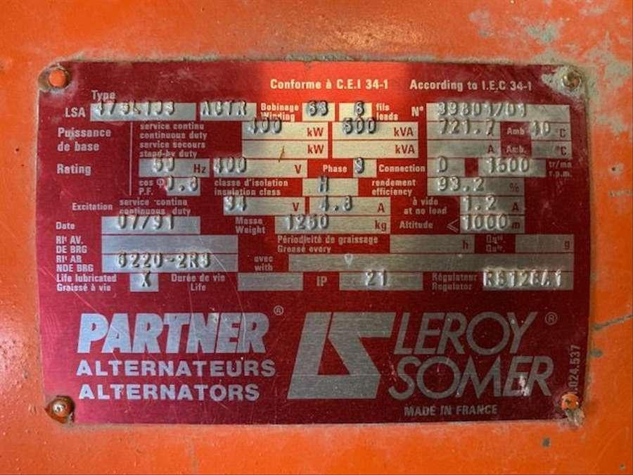 Diversen - Leroy Somer Generator 6