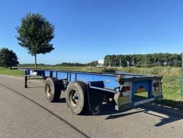 container chassis oplegger Netam 2-Axle  / Steel / Lames / Blatt / 1x40ft – 2x20ft / NL Trailer 1974