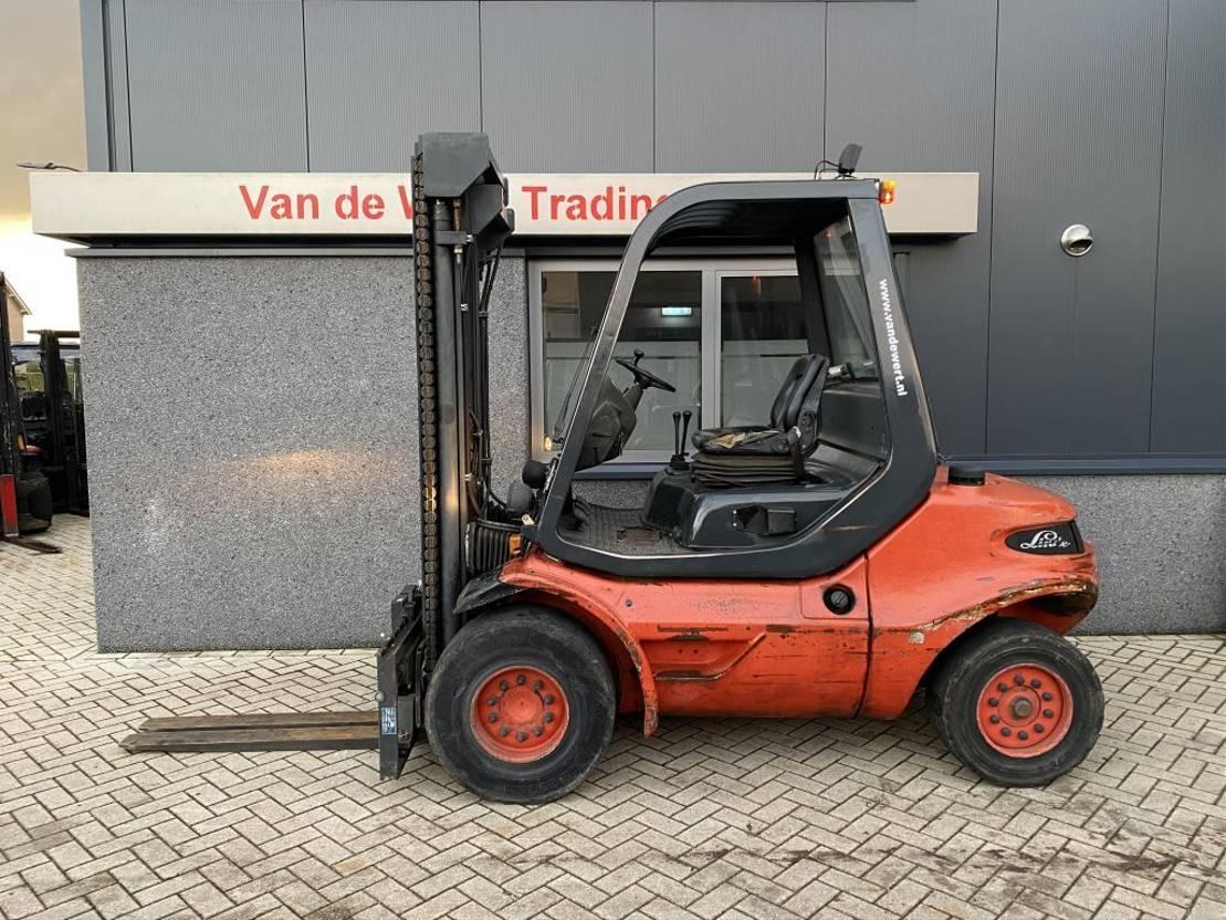 vorkheftruck Linde H45D Heftruck Linde H45D Triplo 520 freelift/Sideshift Diesel 1991