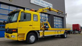 takelwagen-bergingswagen-vrachtwagen Mercedes-Benz Atego 1217 Sliding platform, crane, liftbar, 2x winch, remote control 1998