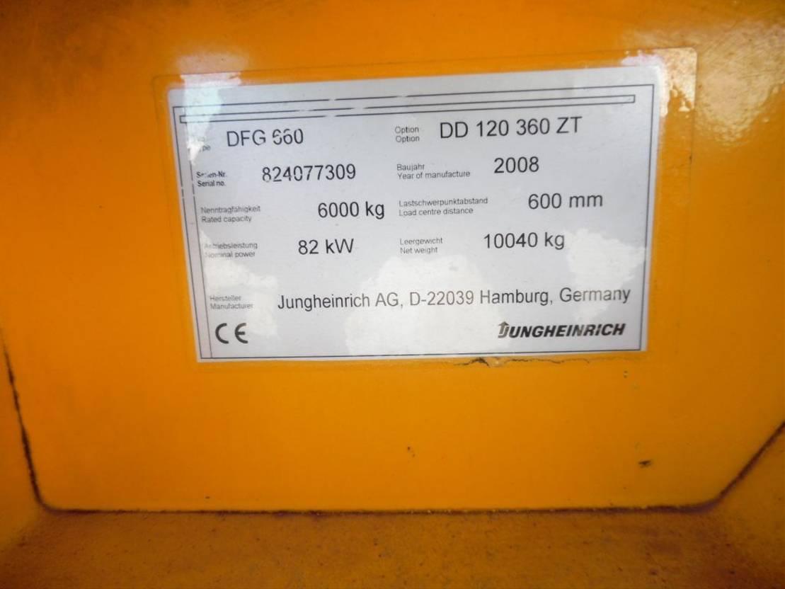 vorkheftruck Jungheinrich dfg 660 2008