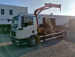 containersysteem vrachtwagen MAN TGL 12 Euro5 containersysteem kraan Palfinger PK8501 2014