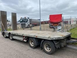 dieplader aanhanger AMT 4-axle machinery drawbar trailer with ramps 2017