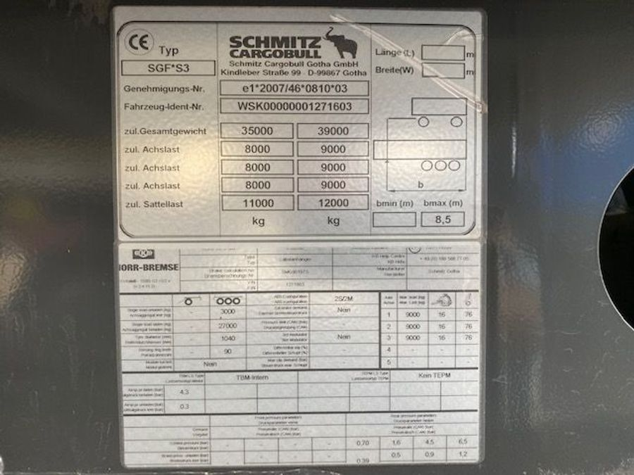 Schmitz Cargobull - 43m³ kubikmeter 25