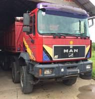 kipper vrachtwagen MAN 35.463 8x6 - Meiller tipper 1997