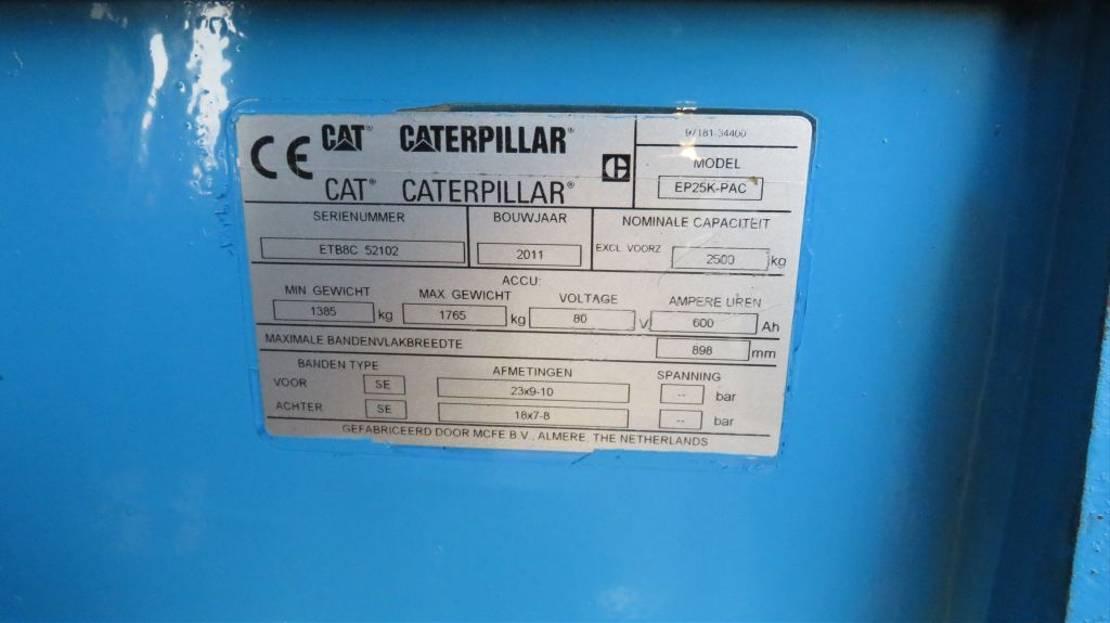 vorkheftruck Caterpillar heftruck elektrische met 3 deligemast en sidesift zeer goed 2011