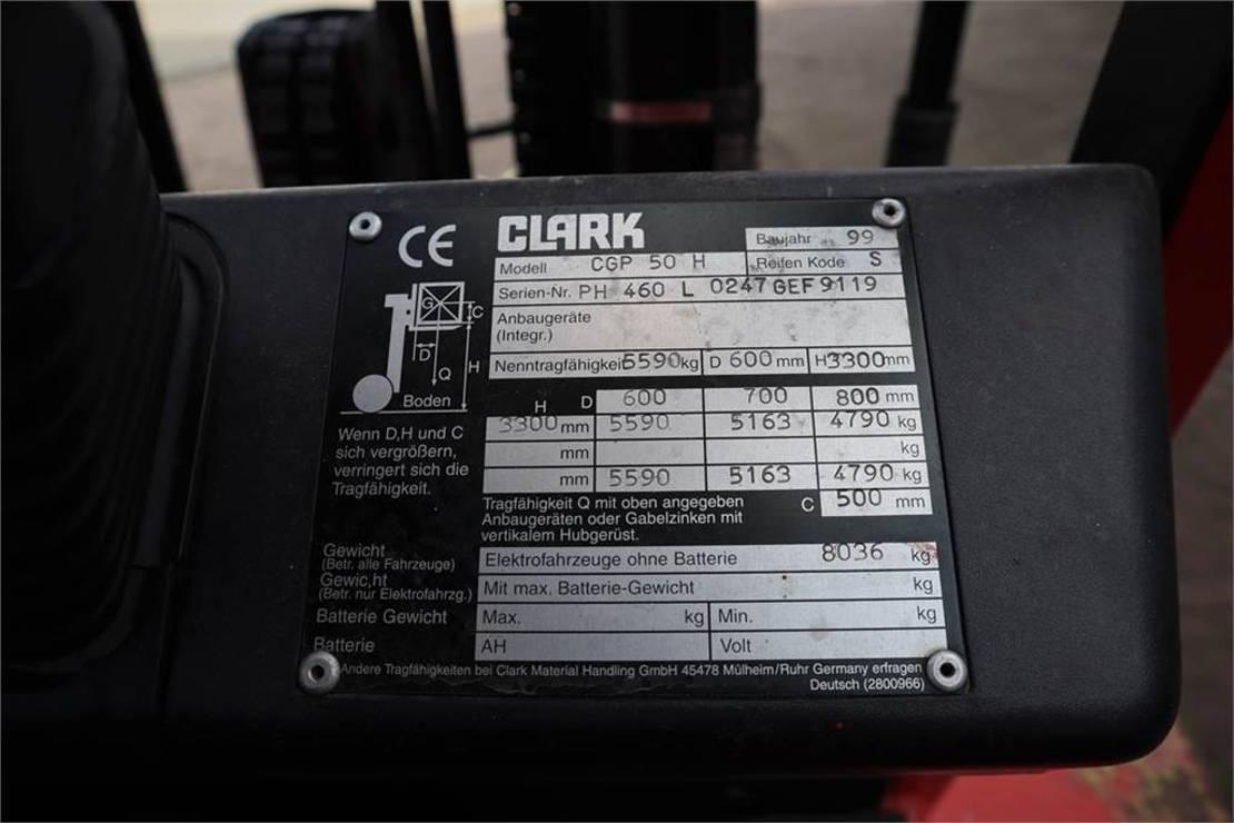 vorkheftruck Clark CGP50H Valid Inspection (UVV) Till 09-2022, 5t Cap 1999
