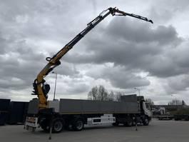 open laadbak oplegger KWB 2-assige oplegger laatste as gestuurd met Effer 37t/m kraan met jib 2007