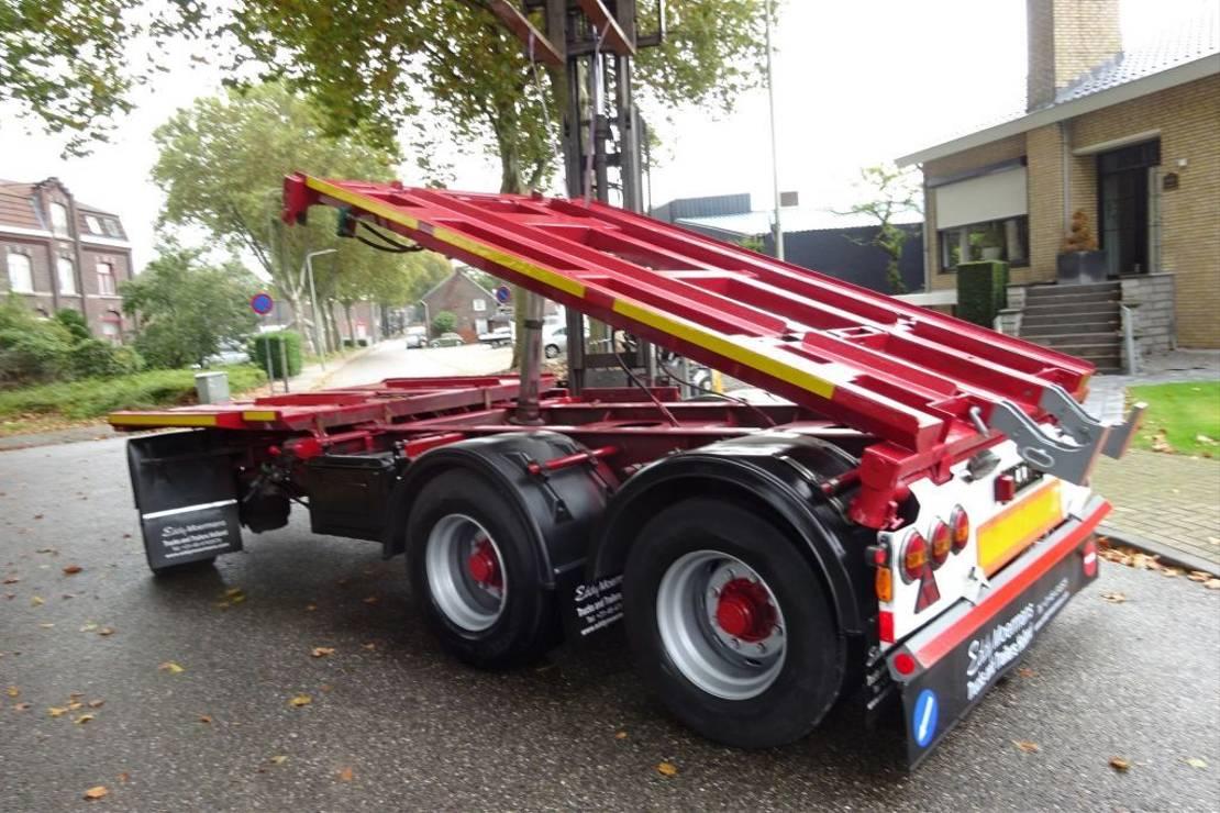 driezijdige kipper vrachtwagen aanhanger Kel-Berg D 24-3 Containertrailer 3 Side Tipping 2010