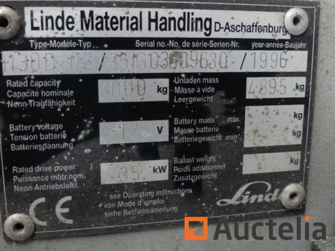 vorkheftruck Linde H30D 1996