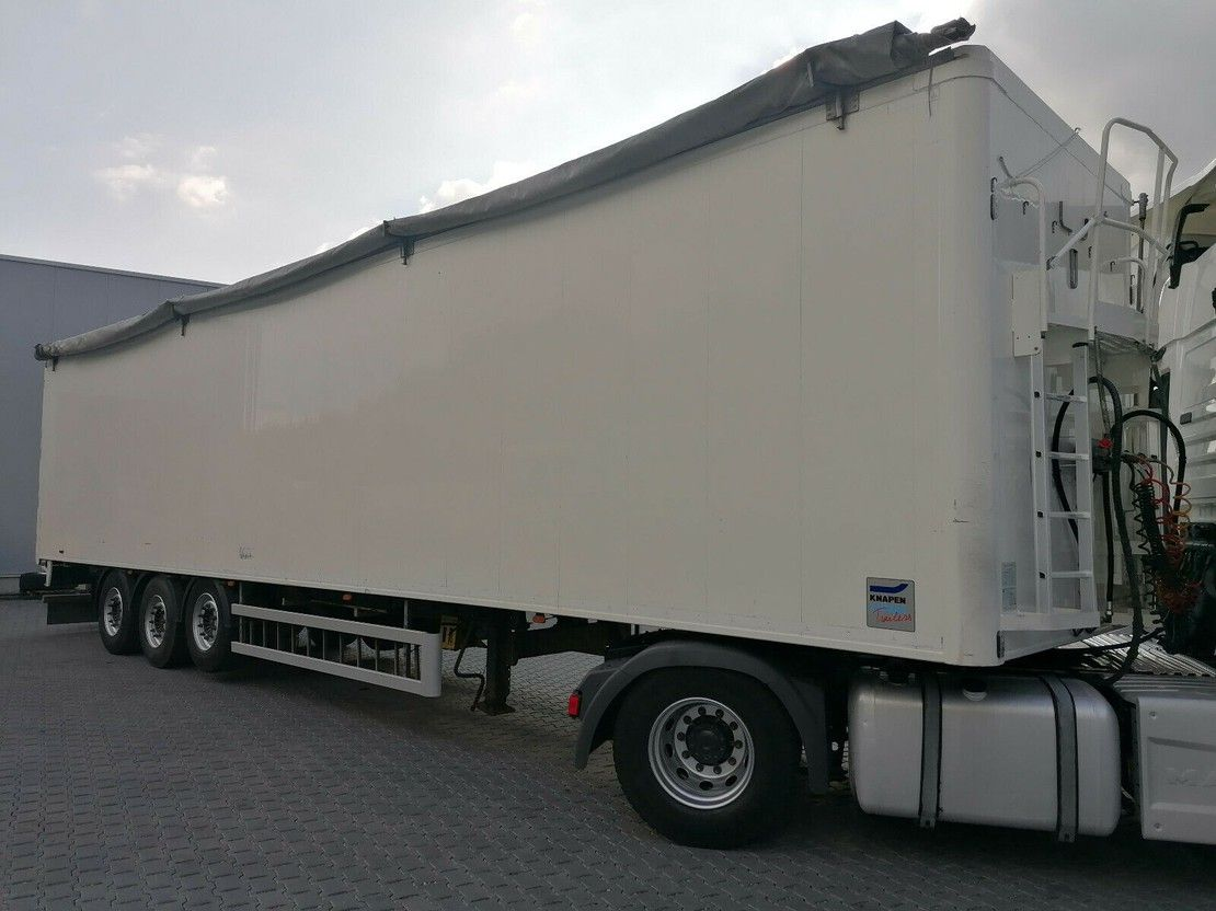 walking floor oplegger Knapen Trailers K100 Walkingfloor-92 m³-SAF-Lift-10 mm- FB 2015