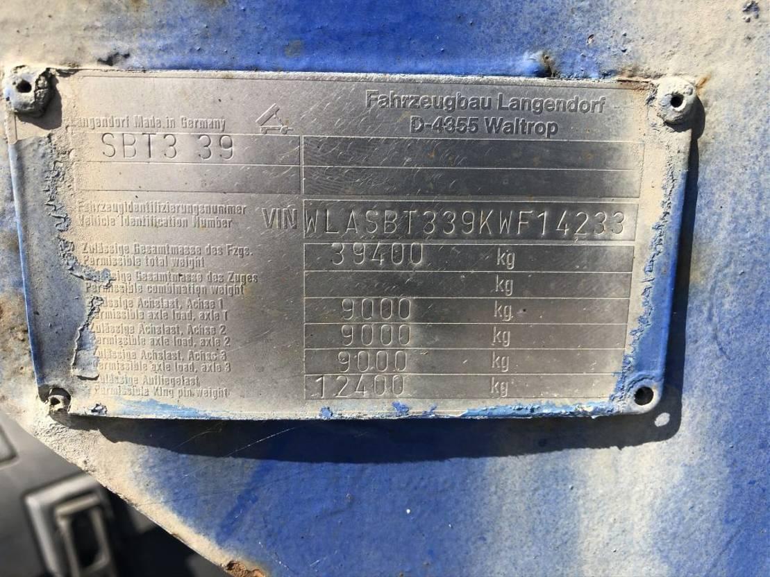 binnenlader oplegger Langendorf BETON-INNENLADER SBT 339 1989