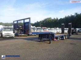 platte oplegger KAESSBOHRER Semi-lowbed trailer 9.2 m / 51 t + ramps + winch 2007