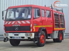 brandweerwagen vrachtwagen Mercedes-Benz 1524 Brandweer, Feuerwehr, Fire brigade - Dubble cabin, mannschaftskabin... 1995