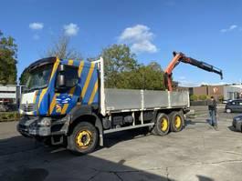 open laadbak vrachtwagen Renault Kerax 370 6X4 MANUAL FULL STEEL RETARDER + PALFINGER PK16502 MET REMOTE 2007