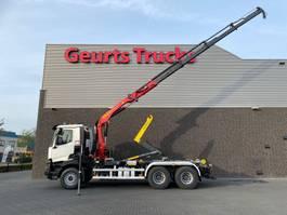 containersysteem vrachtwagen Renault C460 6X4 + PALFINGER HAAKARMSYSTEEM + PALFINGER PK 19.001 SLD B SL KRAAN/KRAN/CRANE/GRUA