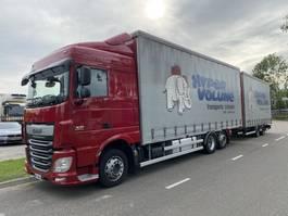 schuifzeil vrachtwagen DAF XF 510 6X2 EURO 6 + FRUEHAUF 2 AXLE HANGER - COMPLETE 2014 2014