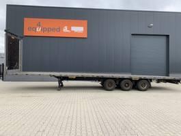 platte oplegger LAG Mega-Flatbed, BPW+drum, NL-Auflieger 2012