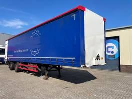 schuifzeil oplegger Vogelzang VO1  2-assige schuifzeilen trailer - laadklep - gestuurde as 2000