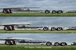 autotransporter oplegger Vlastuin VTR Trailer |Truck low loader | Electric extension | Steer/lift axle | Alcoa rims | 2021