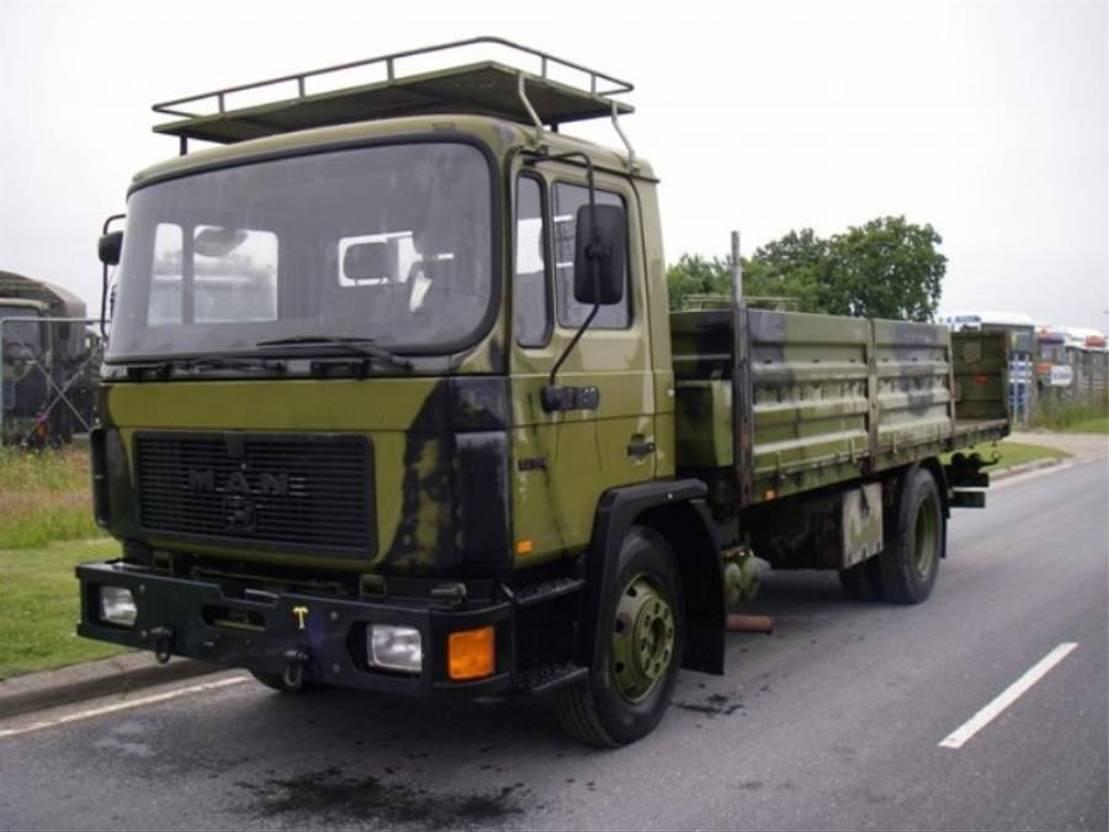 leger vrachtwagen MAN 13-192 F IC 4X2 BDF CHASSIS (EX-ARMY) 1991